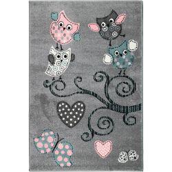 Detský koberec Playtime 0420A sivý